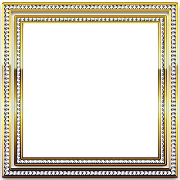 diamond picture frames | Gold and Silver Transparent Frame with ...