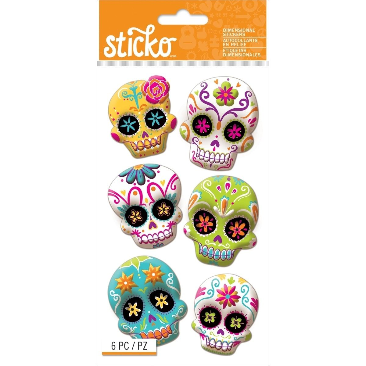 Our Best Embellishments Deals In 2021 Halloween Stickers Sugar Skull Crafts Skull Crafts [ 1200 x 1200 Pixel ]