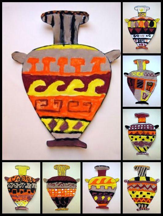 Plastiquem Cermica Grega 1 6th Grade Greek Vases Art Projects