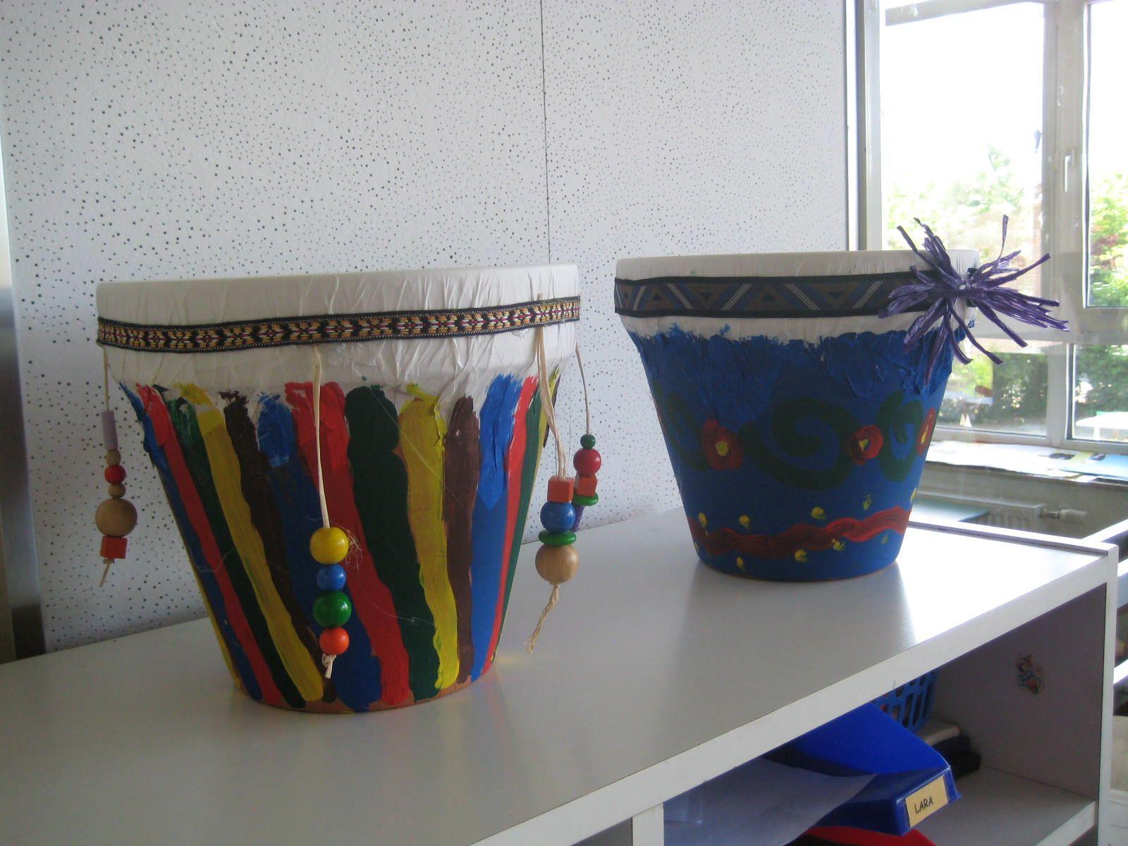 afrikanische trommeln basteln basteln mit kindern pinterest basteln instrumente basteln. Black Bedroom Furniture Sets. Home Design Ideas