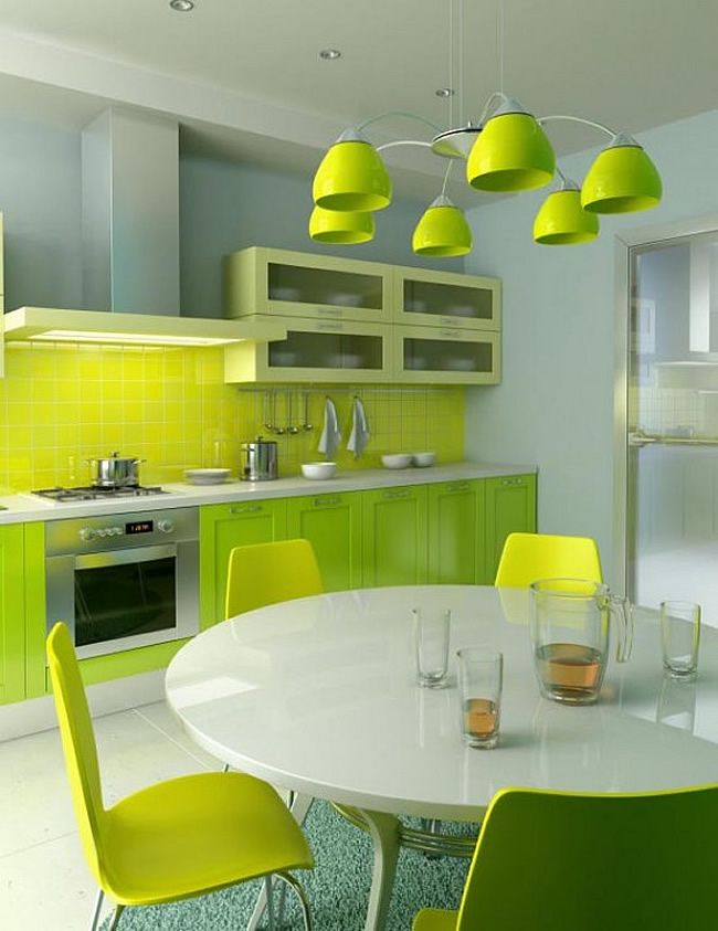 Green Kitchens Inspiration Ideas | Cocinas, Cocina verde manzana y Verde