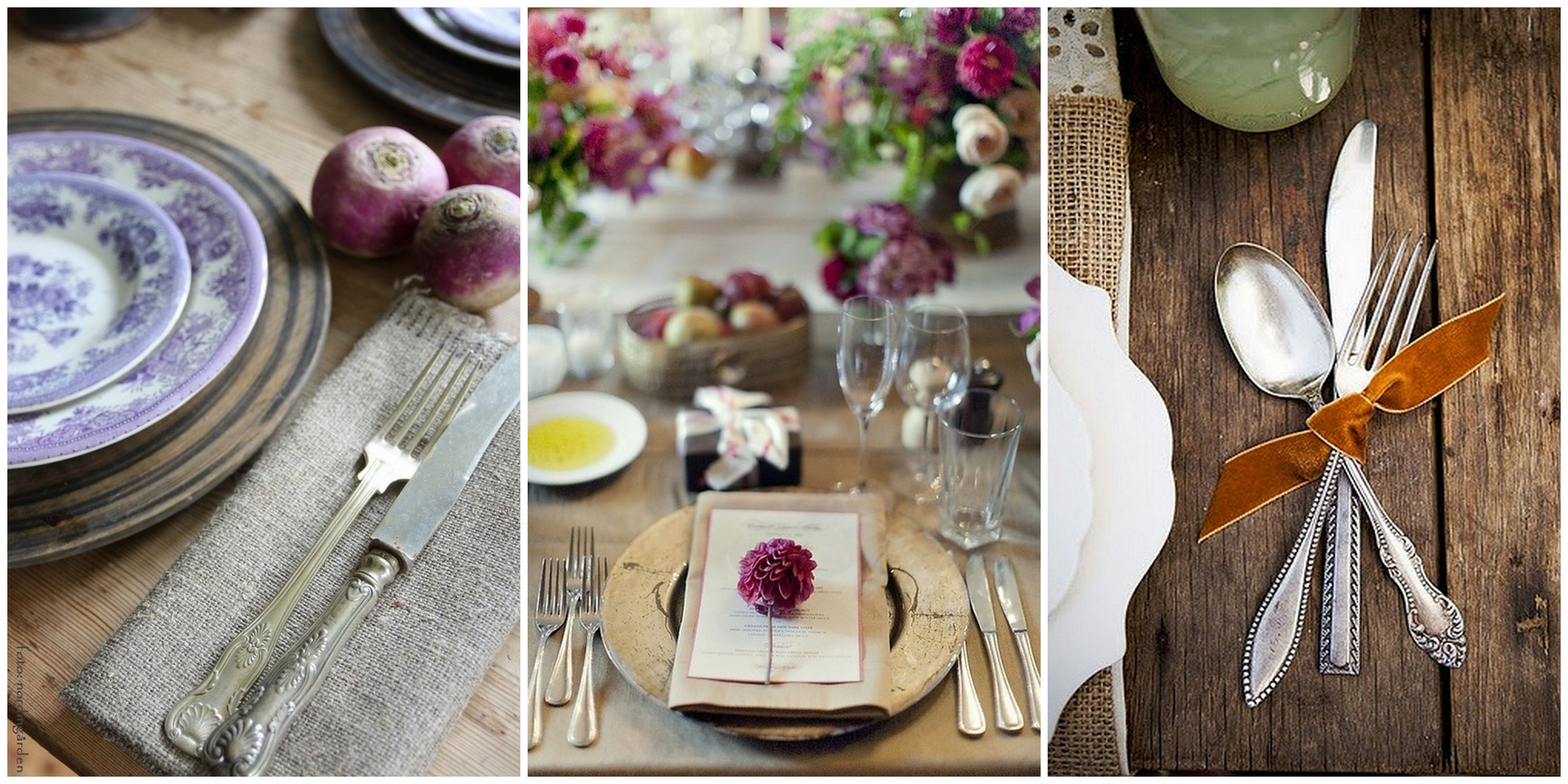 Perfect rustic elegant table settings love the texture Dinner table setting pictures