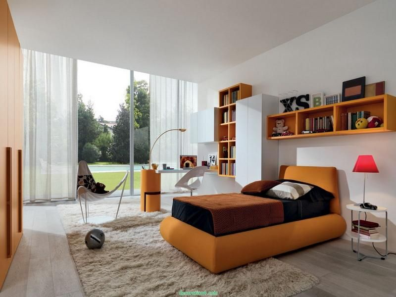 Contemporary Good Room Ideas for Teenage Girls - Orange can go for ...