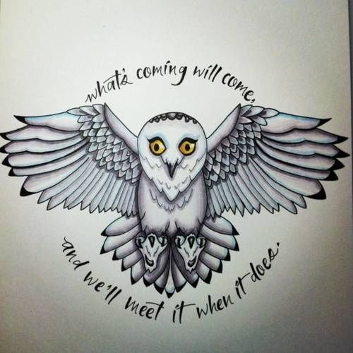 Cool Stuff Geek Worthy Harry Potter Owl Hedwig Tattoo Harry Potter Tattoos