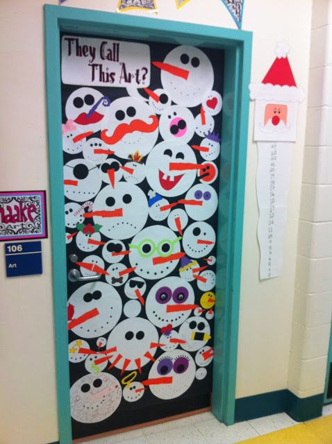 let each student make their own snowmen and then decorate your rh pinterest ca Halloween Door Decorating Ideas for Work Halloween Door Decoration Ideas