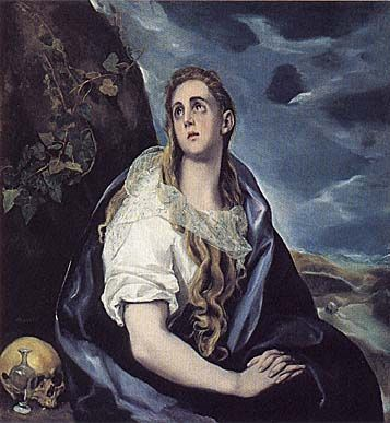 The Repentant Magdalen   El Greco   c. 1577   oil on canvas   42 1/2 x 39 7/8 in   Worcester Art Museum, Worcester, MA, USA