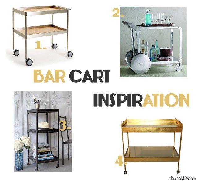 Bar Cart Inspiration- Thrifty Thursday!