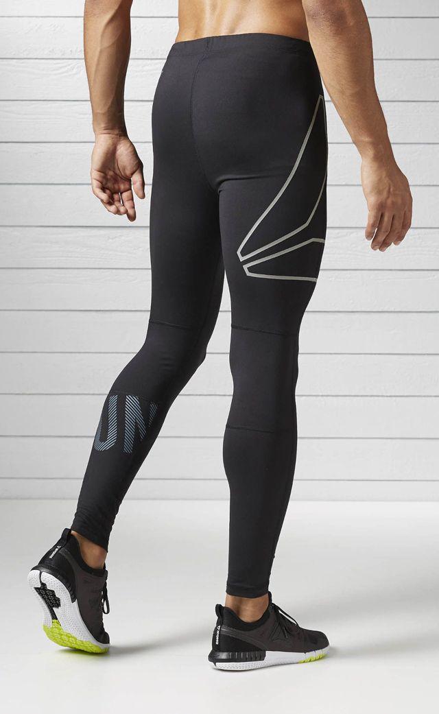 8233e4537e096 Reebok Running Legging Men's Black Running Pant | Reebok ☆ Fitness ...
