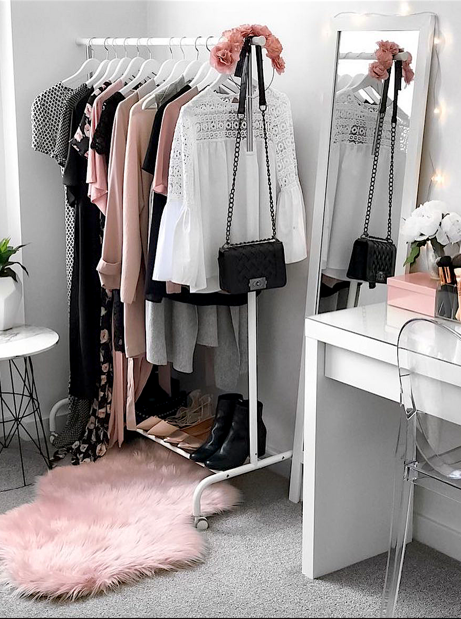 The Best Open Closet Inspiration To Keep Your Wardrobe Super Organized Creative Organization Hacks Ikea Malm Dressing Table Clothing Rack Malm Dressing Table
