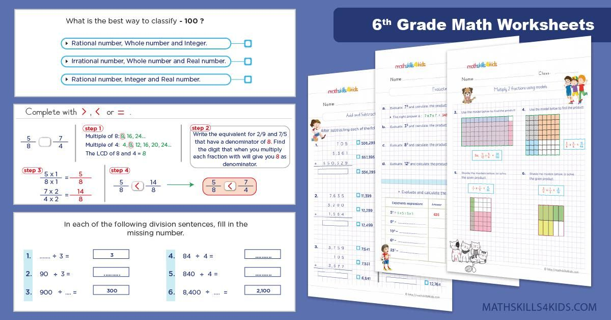 51 Free Sixth Grade Math Worksheets Printable Sixth Grade Math Math Worksheets Grade 6 Math