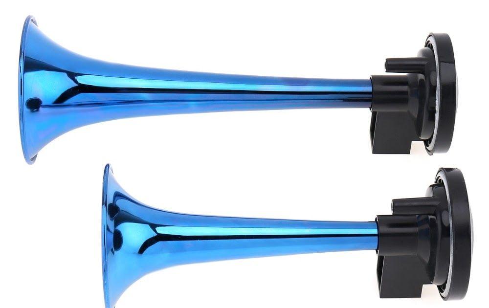 2V 178dB Super Loud Dual Tone Air Horn Set Trumpet Compressor for Motorcycle Car Boat Truck Blue