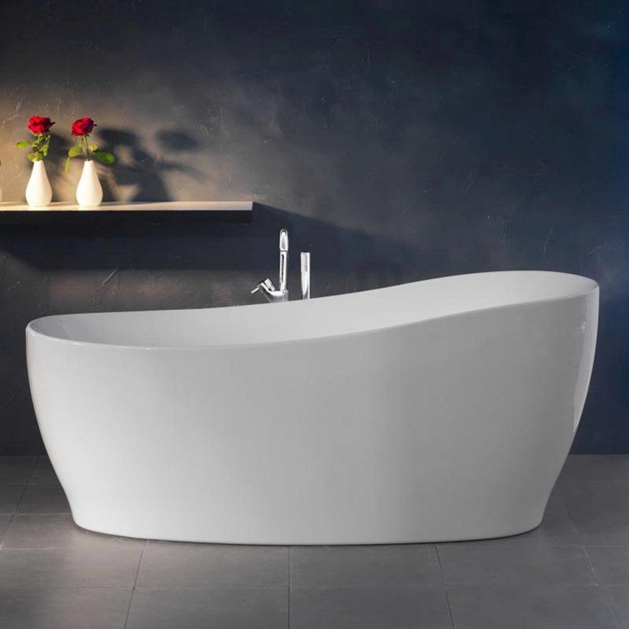 Freistehende Badewanne Aviva 180 Cm X 85 Cm Weiss Kaufen Bei Obi In 2020 Badewanne Ovale Badewanne Freistehende Badewanne