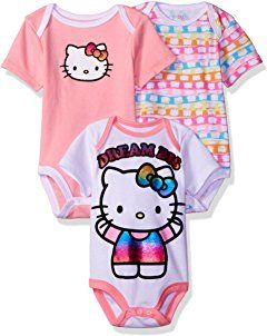 551b44d29 Hello Kitty Baby Girls' 3 Pack Boysuits | Baby Girl Clothes | Hello ...