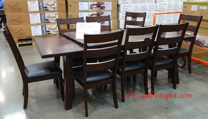 UPDATE The Table Top Expands With Ball Bearing Guides For Easy Leaf Access Costco Has Bayside Furnishings Dining Set On Sale A Limited