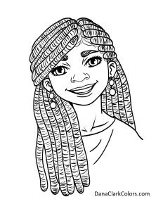 black kids coloring page - African American Coloring Books