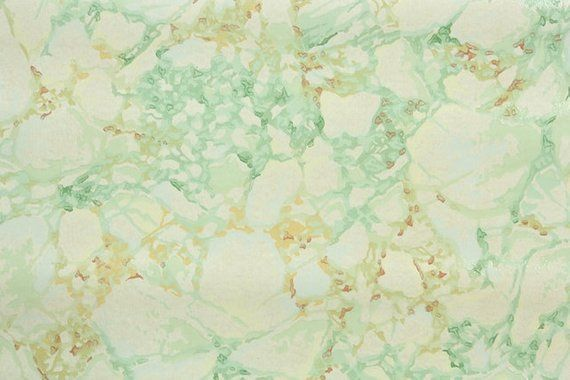 1940s Vintage Wallpaper by the Yard - Green and Brown Marble Faux