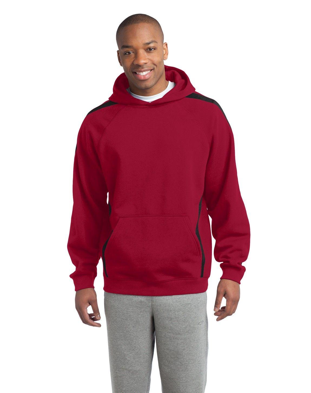 SportTek ST265 Sleeve Stripe Pullover Hooded Sweatshirt