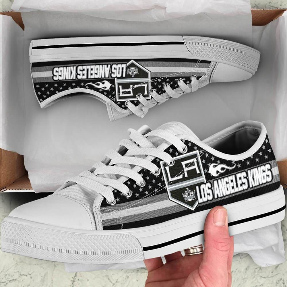 Los Angeles Kings Legend Since 1967 NHL Hockey Teams Black Low Top Shoes - Geek Tarven     Shipping