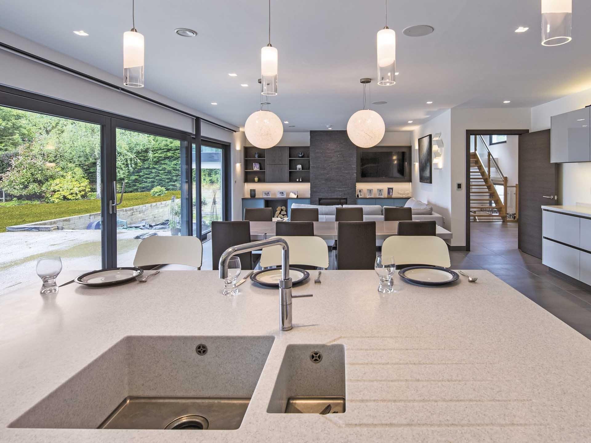 individuell geplantes weberhaus wohn essbereiche pinterest haus wohnen und individuelle. Black Bedroom Furniture Sets. Home Design Ideas