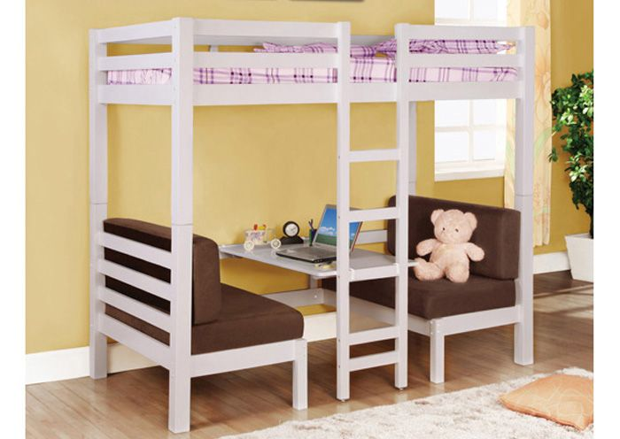 Twin Twin Convertible Loft Bed Comes With Adequate Room