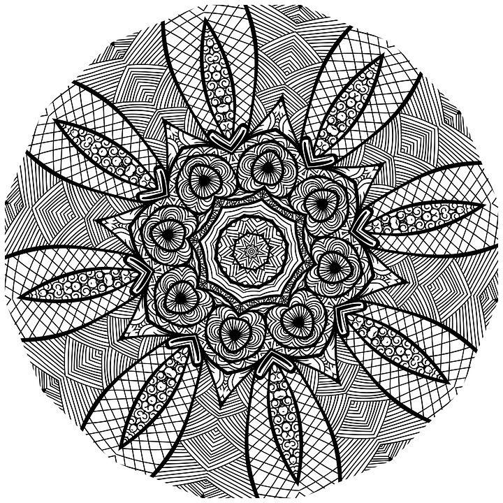 Free Image on Pixabay - Mandala, Line Art, Black And White ...