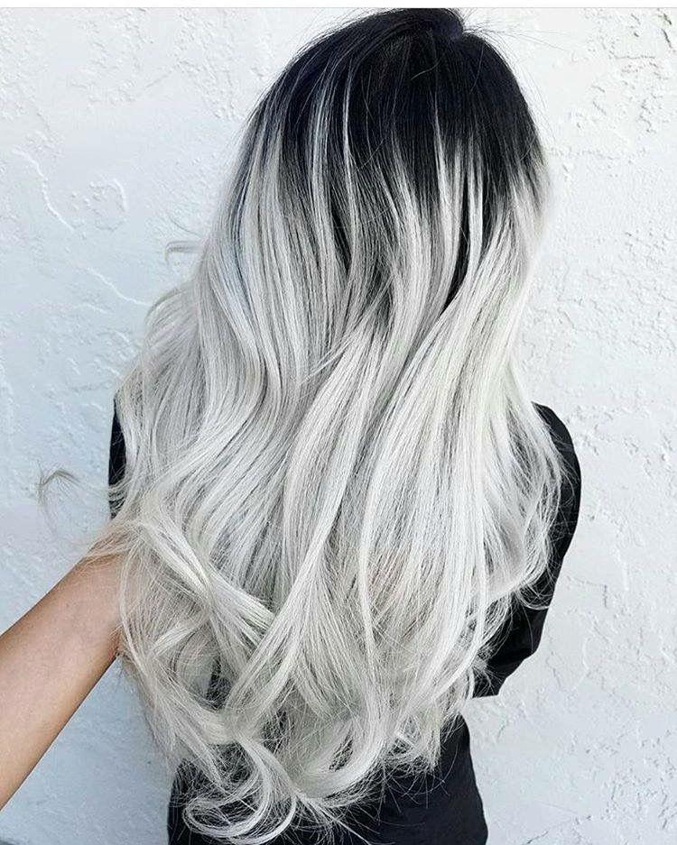 ombre platin blond hair ideas pinterest haar ideen graue haare und bunte haare. Black Bedroom Furniture Sets. Home Design Ideas