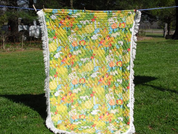 Bedspread Vintage Childs Twin Bedspread 60 Inches Wide 73