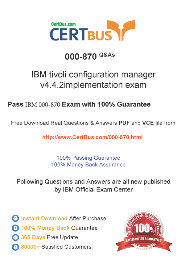 Candidate need to purchase the latest IBM 000-870 Dumps with latest IBM 000-870 Exam Questions. Here is a suggestion for you: Here you can find the latest IBM 000-870 New Questions in their IBM 000-870 PDF, IBM 000-870 VCE and IBM 000-870 braindumps. Their IBM 000-870 exam dumps are with the latest IBM 000-870 exam question. With IBM 000-870 pdf dumps, you will be successful. Highly recommend this IBM 000-870 Practice Test.
