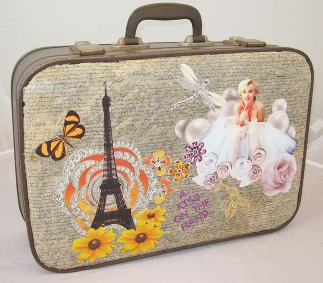 Vanity Case - Vintage Marilyn Monroe Suitcase - Travel Luggage