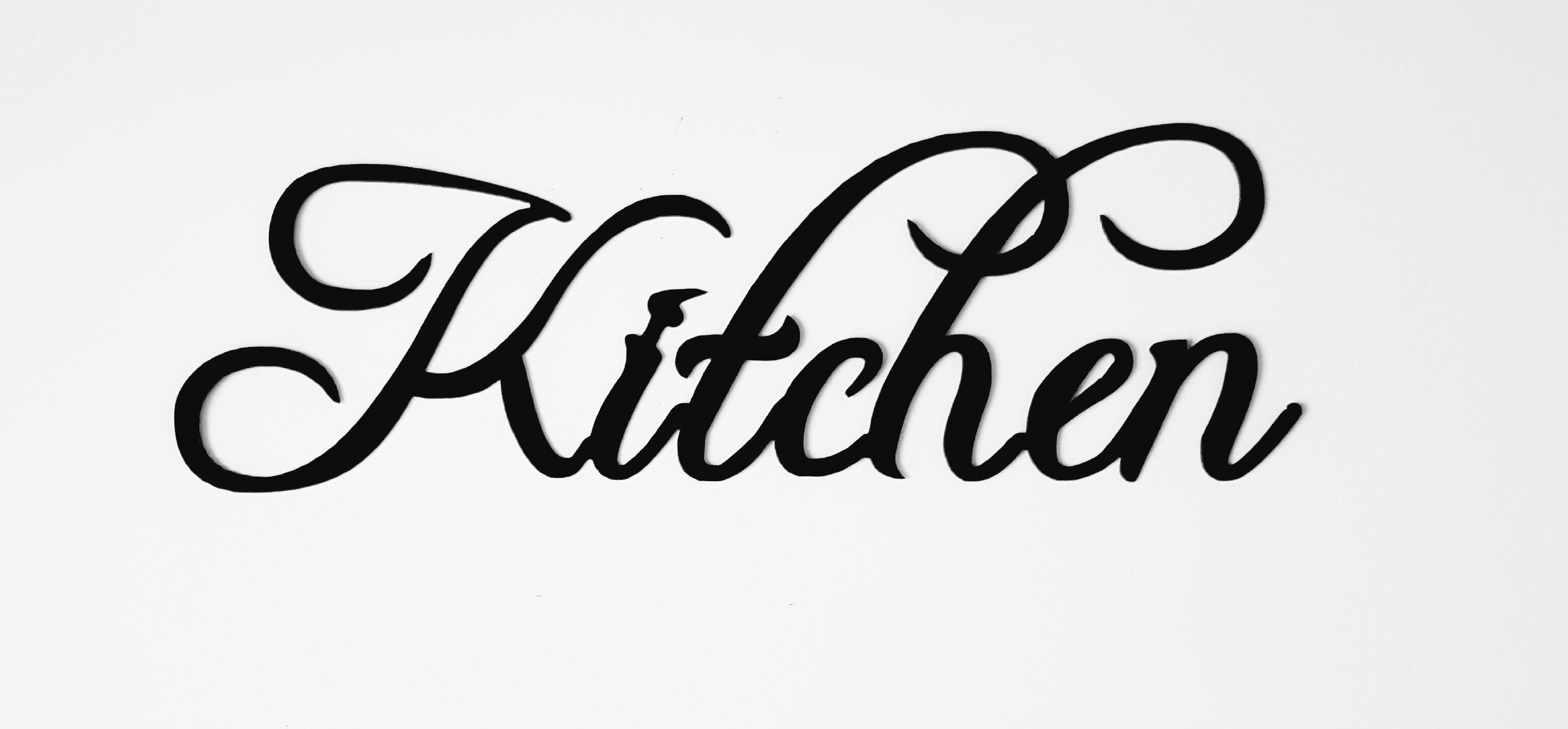 Copy Of Kitchen Word Home Decor Metal Wall Art Kitchen Words