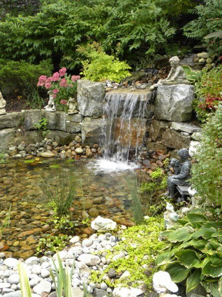 Water features pools ponds fish pond water fall for Koi pond next to pool