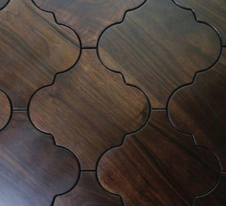 Wood Meets Tile Moroccan Style Artsy Floors Pinterest