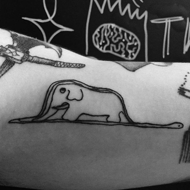 Tatuaż Słoń Mały Książę Szukaj W Google Inspirations