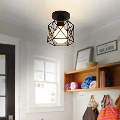 Marsbros Retro Vintage Industrial Mini Painting Metal Flush Mount Alluring Dining Room Flush Mount Lighting Review