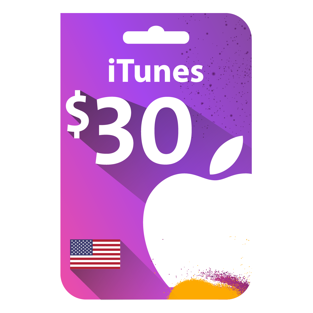 بطاقة ايتونز 30 دولار المتجر الأمريكي Itunes Gift Cards Itunes 100 Itunes