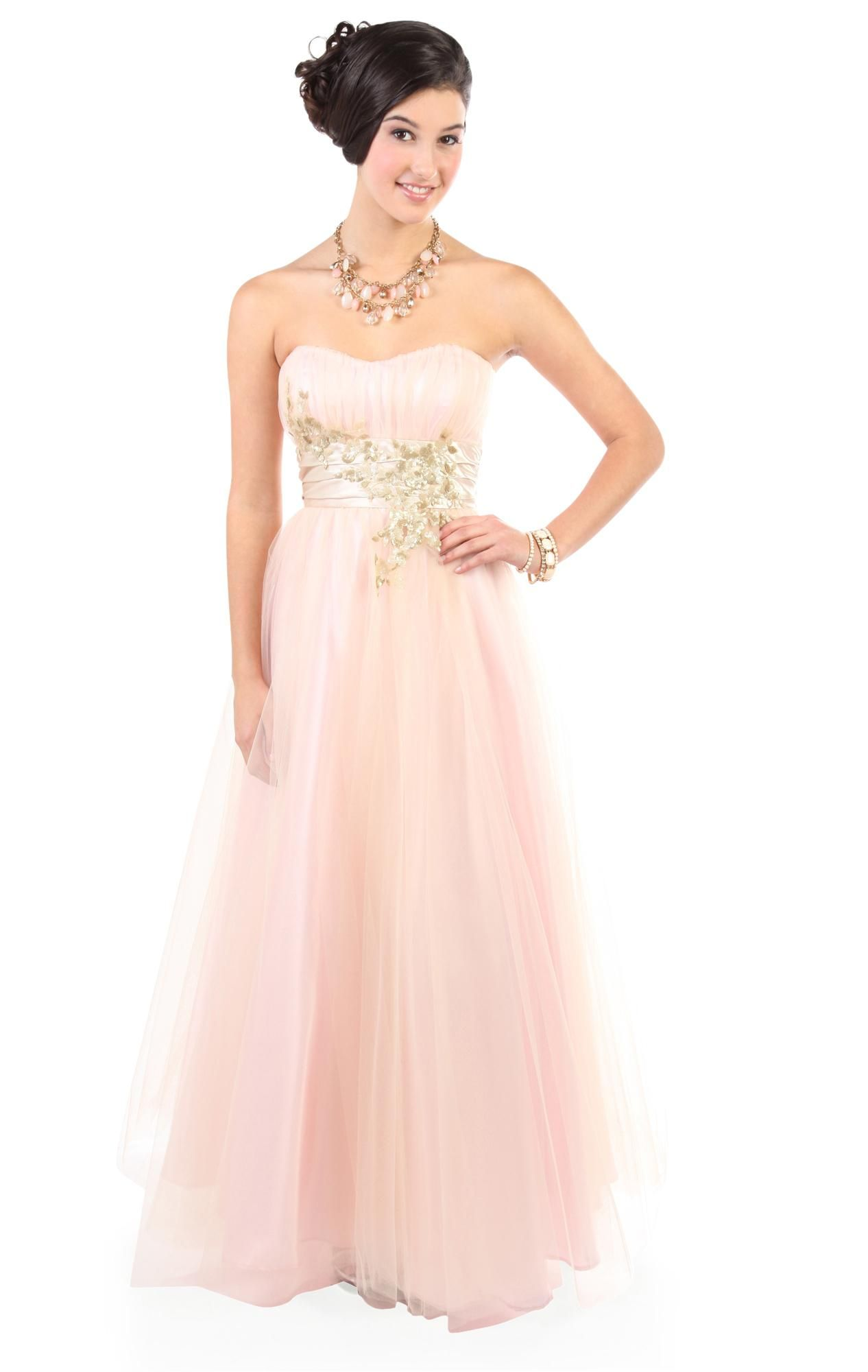 Deb Shops strapless two tone #pink sequin tulle long #prom #dress ...