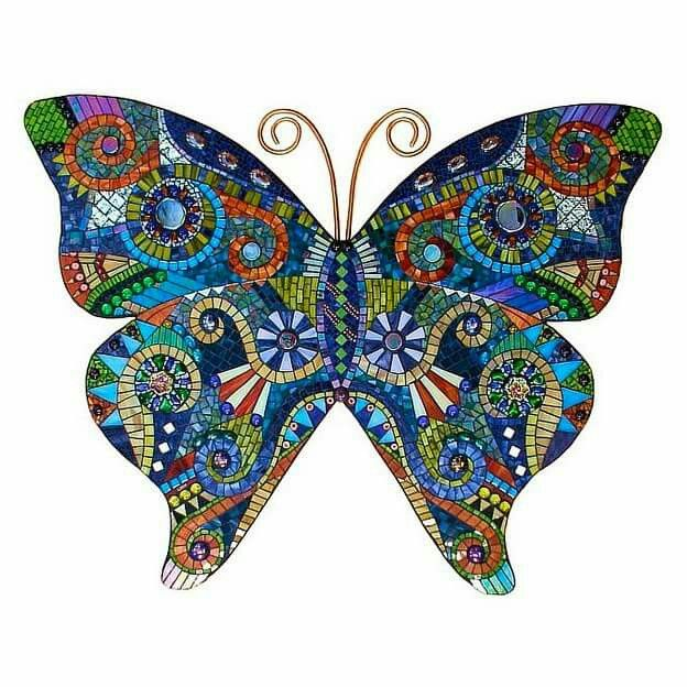 mosaic more pins like this at fosterginger pinterest mosaik butterfly pinterest mosaik. Black Bedroom Furniture Sets. Home Design Ideas