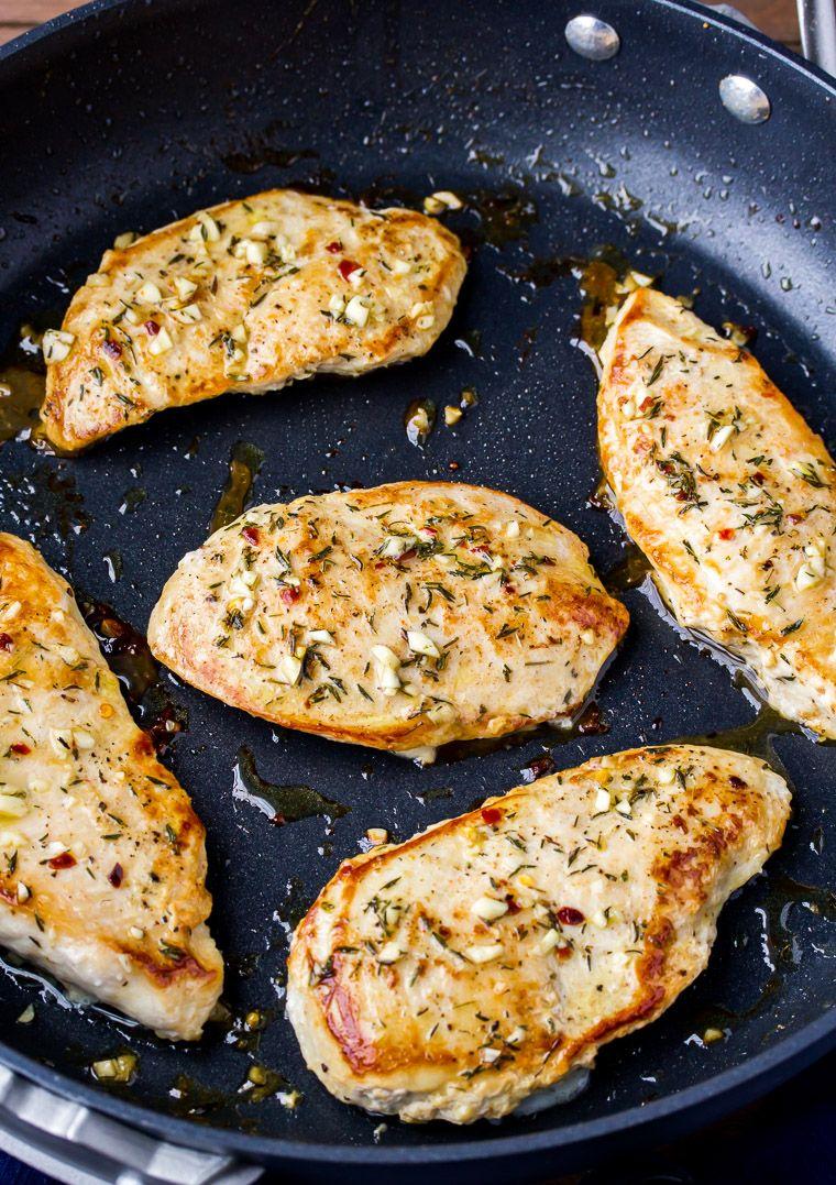 Easy Pan Seared Garlic Chicken Recipe - Delicious