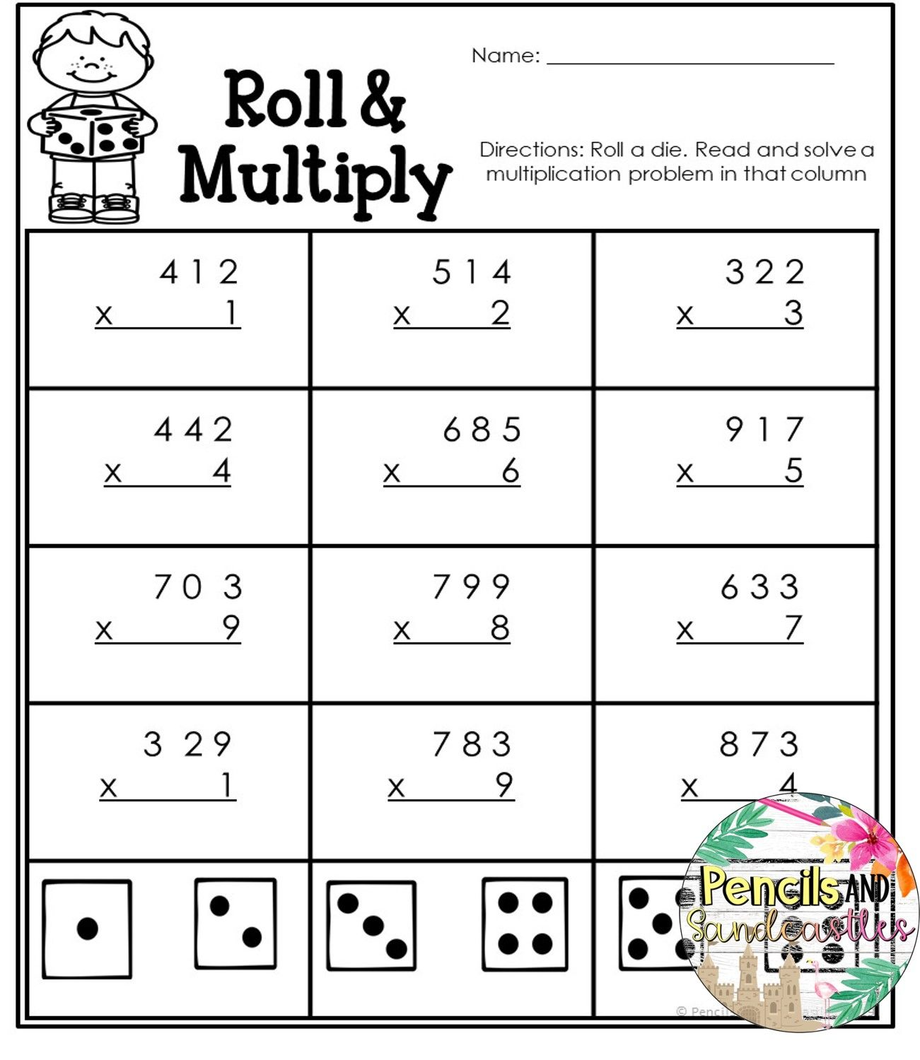 Spreadthelove Multiply 3 Digit By 1 Digit Worksheets