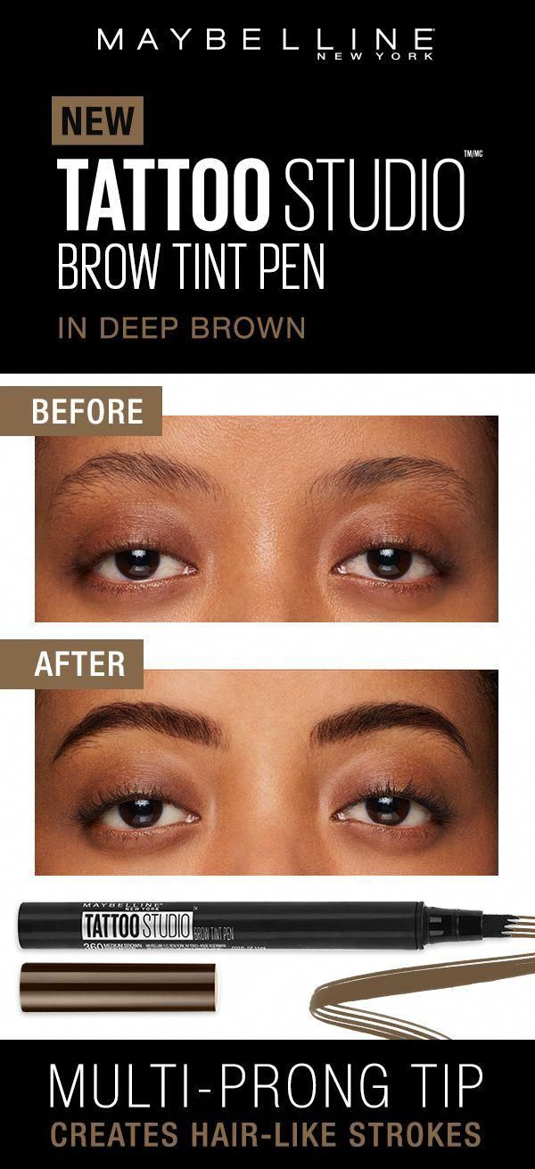 Create Foolproof Brows With Our First Eyebrow Pen Our Tattoostudio Brow Tint Pen Fills In Brows With Natural Looking Hair Lik In 2020 Brow Tinting Brows Fill In Brows