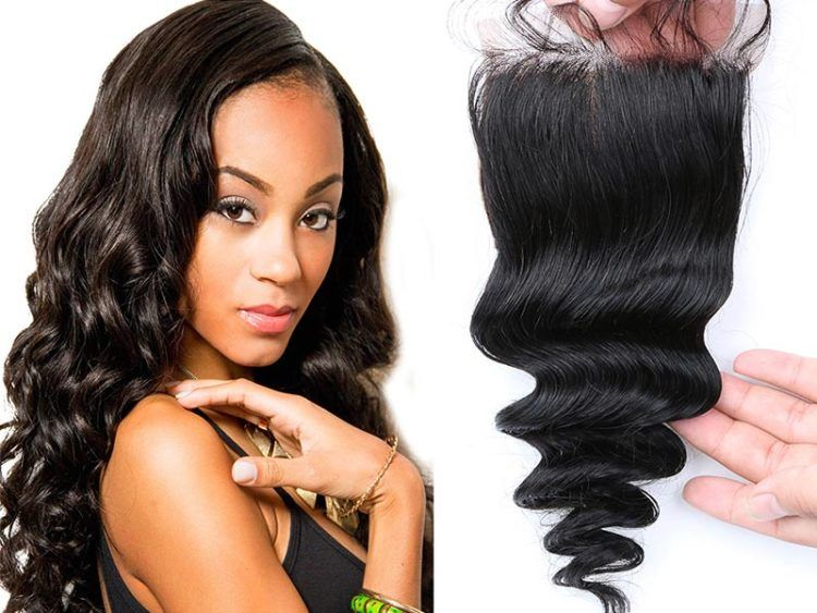9a lace closure virgin hair loose wave 44 with images