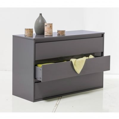 commode 2 tiroirs linea finition laque