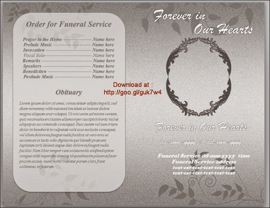 Funeral Brochure Templates Download Editable in Word with gradation - funeral program background