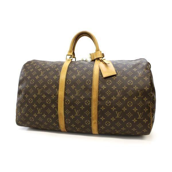 85ea2172267f Louis Vuitton Keepall 55 Monogram Luggage Brown Canvas M41424 ...