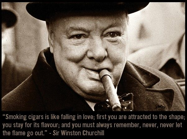 Great Cigar Quote By The Master Of Quotes And The Cigar