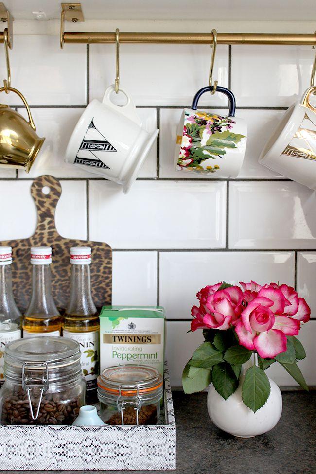 How To Glam Up An Ikea Grundtal Rail Ikea Hack Hanging Mugs Decor