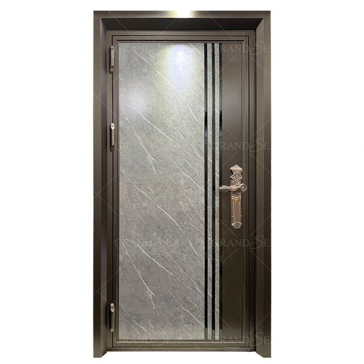 Coffee brown stainless steel doors