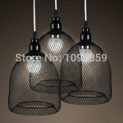 Free Shipping Modern Retro Metal Mesh Pendant Light Lamp Black ...