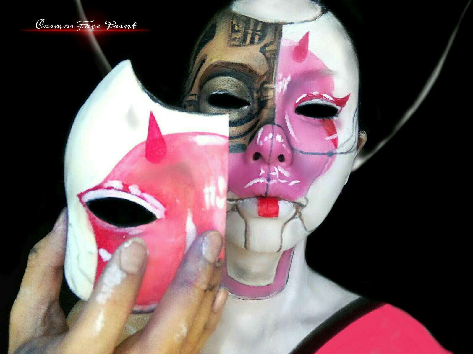 Ghost In The Shell Geisha Robot Face Paint By Cosmos Face Paint Facebook Page Www Facebook Com Cosmos Ghost In The Shell Character Costumes Body Art Painting