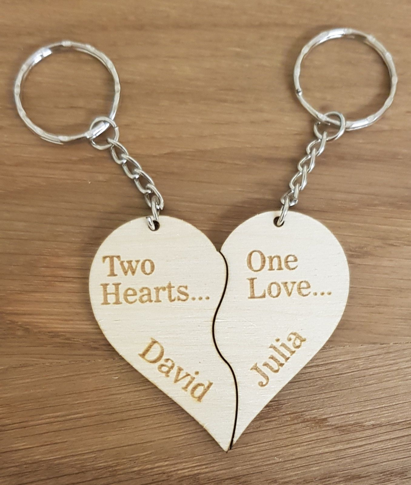 Birthday Gift Engraving puzzle Keyrings Valentine/'s Day Wedding